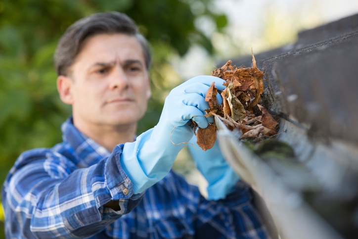 cleaning and repairing gutters