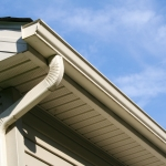 House with Gutter and Downspout